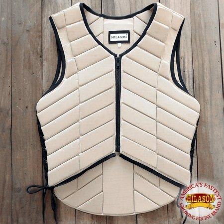 hilason adult safety equestrian eventing tan protective protection vest