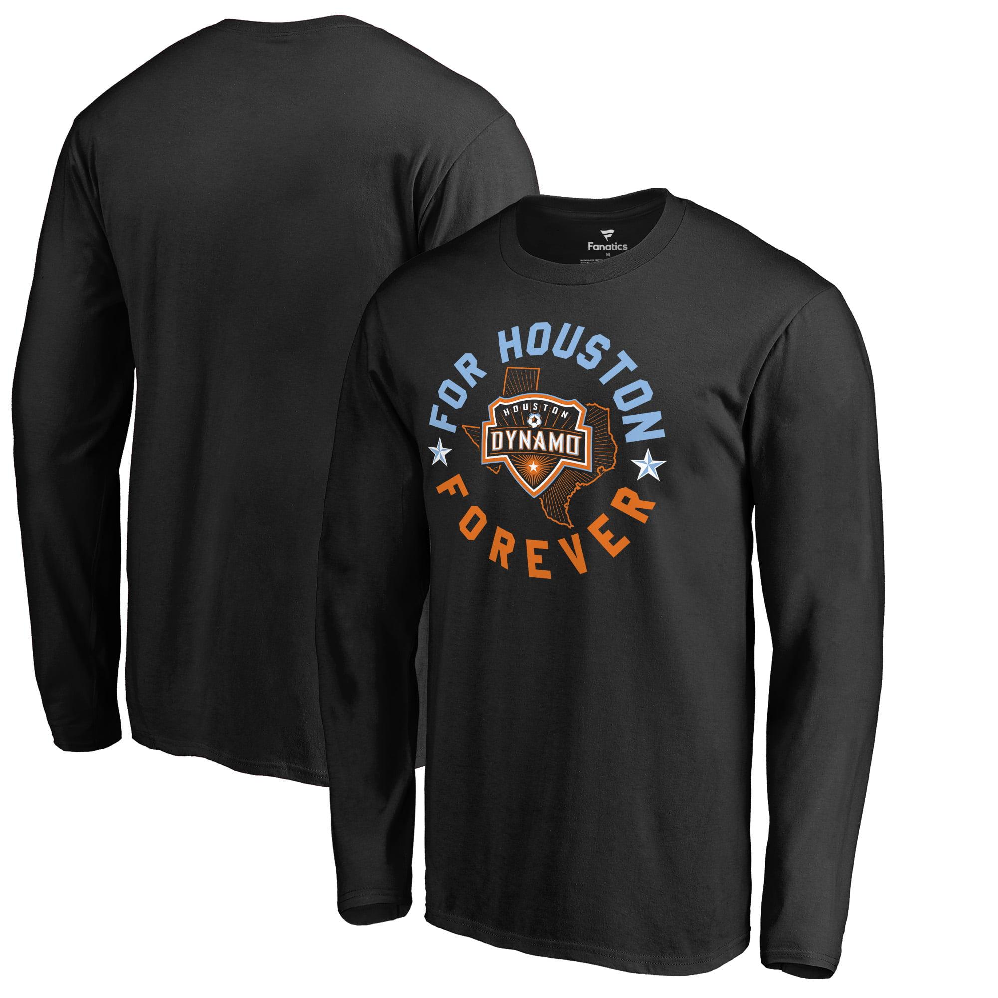 Houston Dynamo Fanatics Branded Forever Arch Long Sleeve T-Shirt - Black