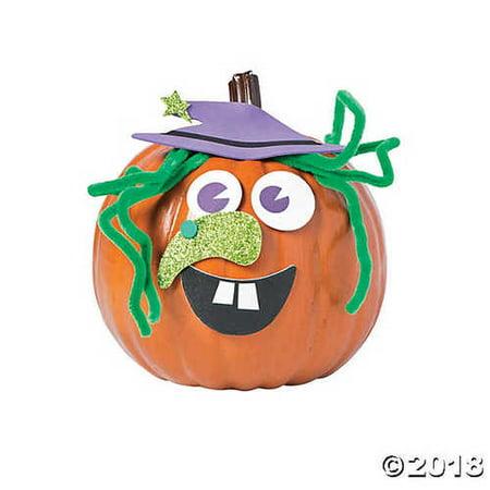 Goofy Witch Pumpkin Decorating Craft Kit (Pumpkin Craft)