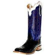Cinch Western Boots Mens Cowboy Ostrich LR Outsole Black Blue CFM553