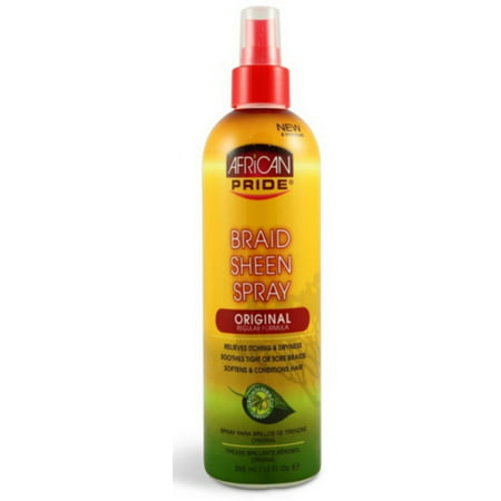 African Pride  Braid Sheen Spray, 12 oz African Pride Braid Spray