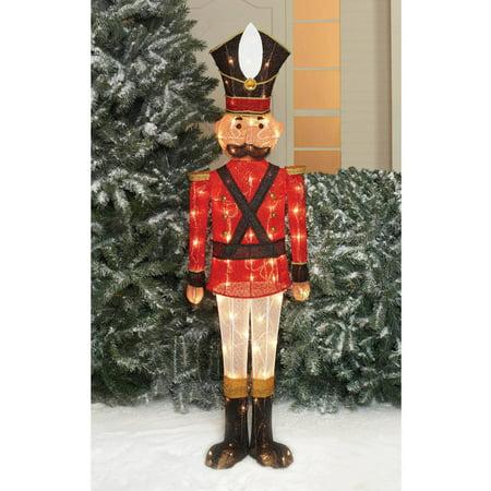 "Holiday Time Christmas Decor 54"" Sequin Mesh Nutcracker Sculpture - Walmart.com"