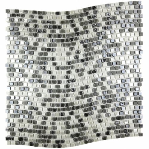 Miseno MT-COMET5/16SQWAVY Comet - Wave Pattern Glass Visual - Wall Tile (Sold by Sheet)