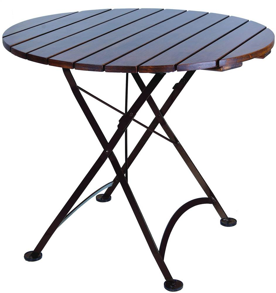 European Cafe 32 in. Round Folding Table