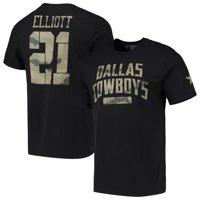 Ezekiel Elliott Dallas Cowboys Camo Name & Number T-Shirt - Black