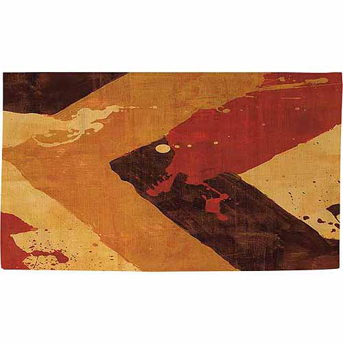 "IDG Splatter No 1 Red Rug, 22.5"" x 37"""