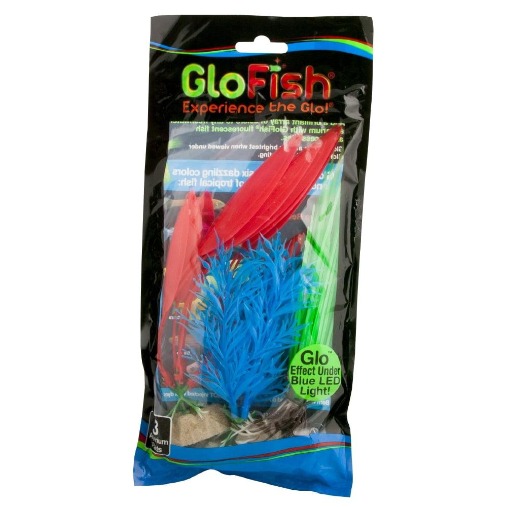 GloFish Multipack Plastic Aquarium Plants, 3 count by Spectrum Brands