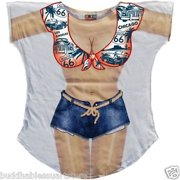 Route 66 Bikini Body Tee Shirt Cover-Up #82 (Plus Size)