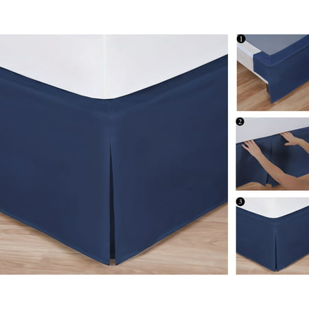 King Size Easy To Use Wraparound Bed Skirt Tailored Split Corner Design