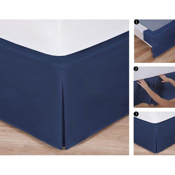 Full Size Easy to Use Wraparound Bed skirt: Tailored, Split Corner