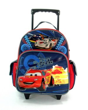 Cars Rolling BackPack - Cars Rolling School Bag Small by S Shop