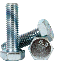 M22-2.50 x 80mm Hex Cap Screws, Class 8.8, DIN 931, Zinc CR+3, Partially Threaded, Coarse Thread (metric)