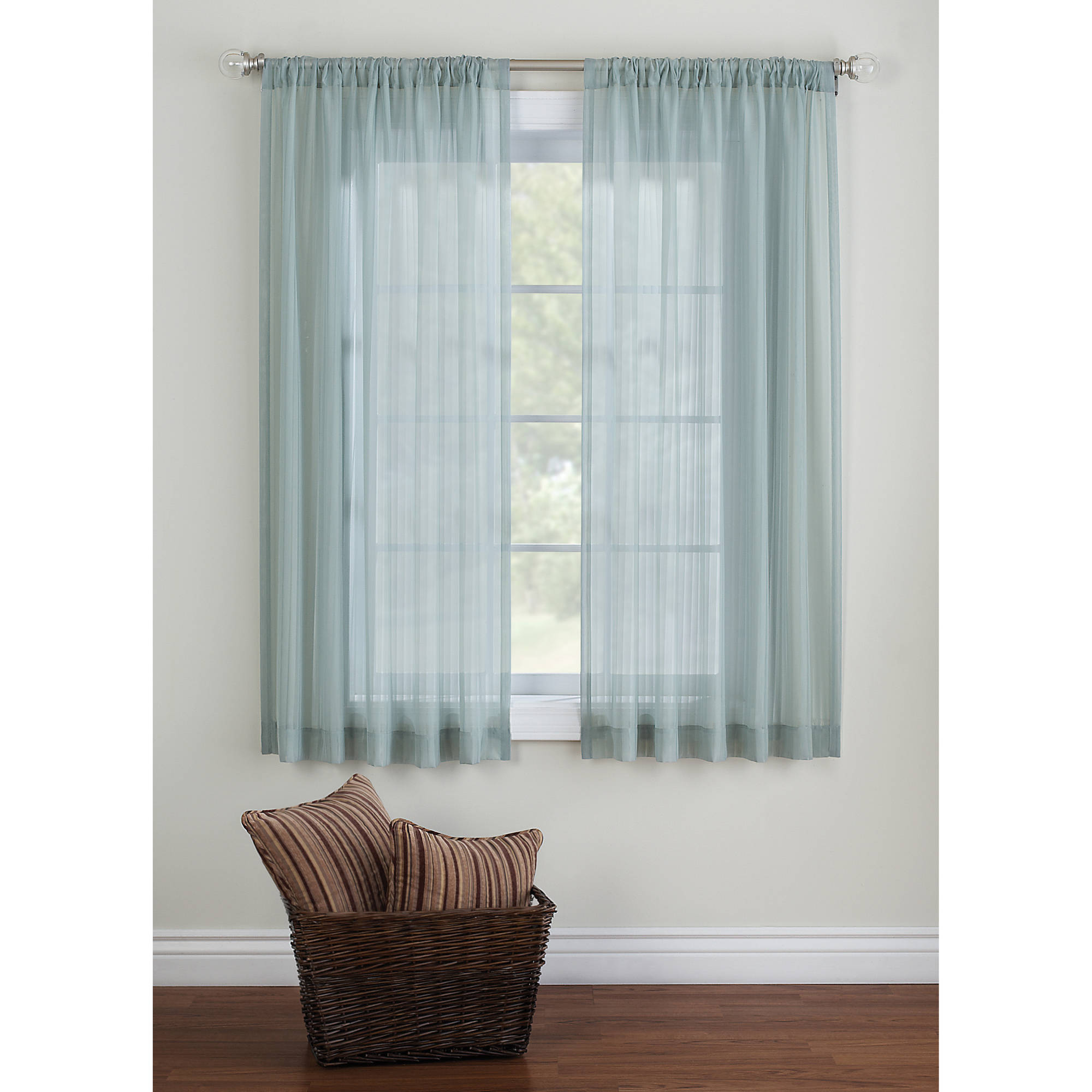 Better Homes And Gardens Elise Woven Stripe Sheer Window Panel