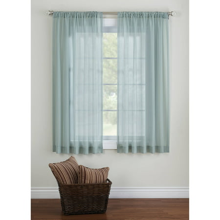 (Better Homes & Gardens Elise Woven Stripe Sheer Window Panel)