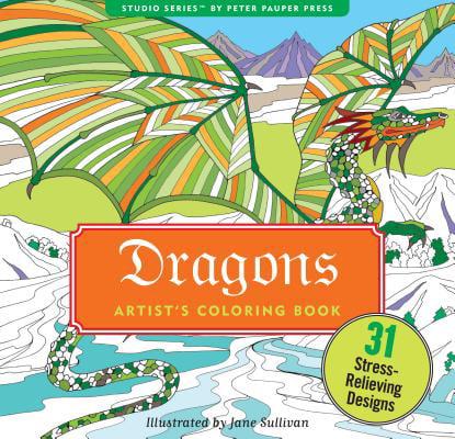 Dragons Adult Coloring Book (Paperback)