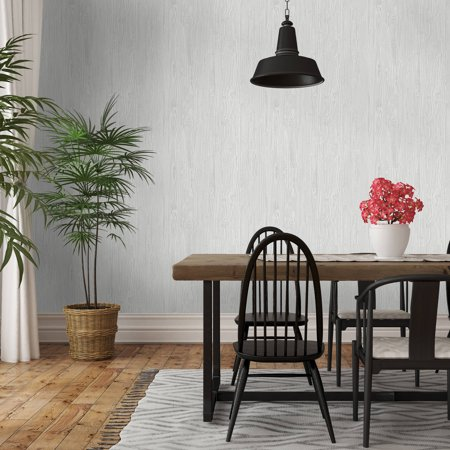 Rel Removable Wallpaper Textured Woodgrain Grey