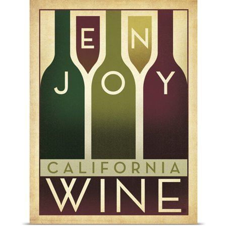 Great Big Canvas Anderson Design Group Poster Print Entitled Enjoy California Wine   Retro Poster