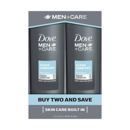 Dove Men+Care Clean Comfort Micro Moisture Mild Formula Body Wash - 18 fl oz
