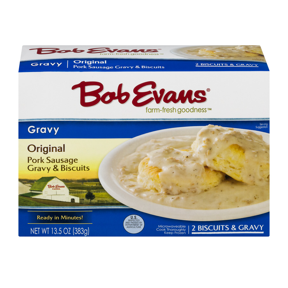 Bob Evans Gravy Original Pork Sausage Gravy & Biscuits - 2 CT