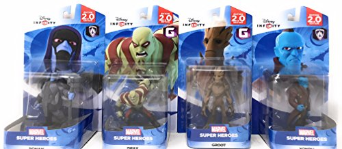 Disney Infinity: Marvel Super Heroes (2.0 Edition) Groot, Yondu, Ronan & Drax Figures Guardians Of The Galaxy... by