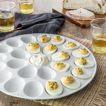 Cambro Dishwasher Safe Platter - Better Homes & Gardens Porcelain Egg Platter