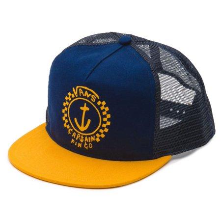 Vans Off The Wall Men's Captain Fin Trucker Hat Cap - Parisian Night/Golden Rod ()