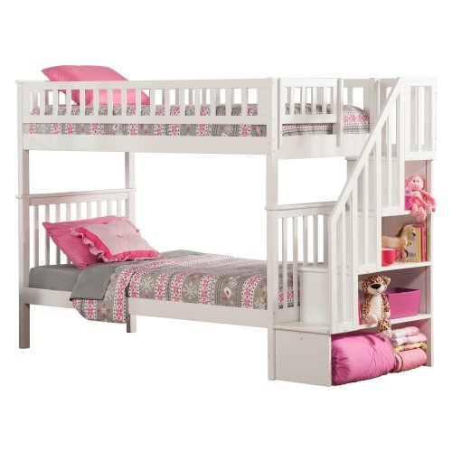 Woodland Twin over Twin Staircase Bunk Bed