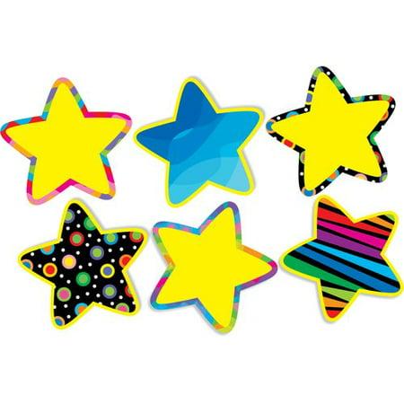 - Creative Teaching Press 12 Piece Poppin Pattern Stars 10'' Jumbo Designer Cut-out Set