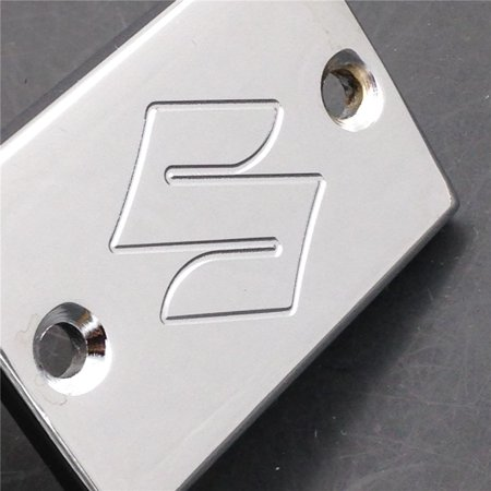 HTT-MOTOR Chrome Billet Aluminum Rear Brake Fluid Reservoir Cap Cover