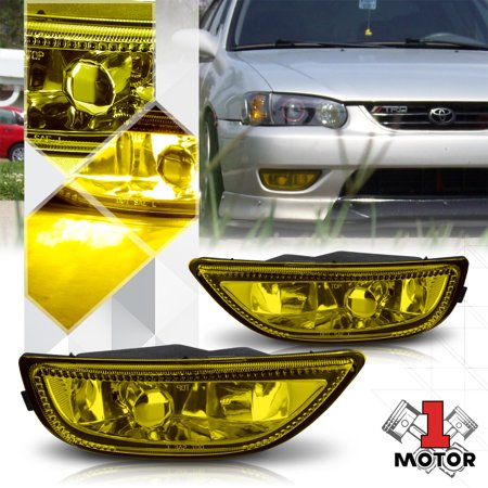 Golden Yellow Lens Replacement Fog Light OE Bumper Lamp for 01-02 Toyota Corolla