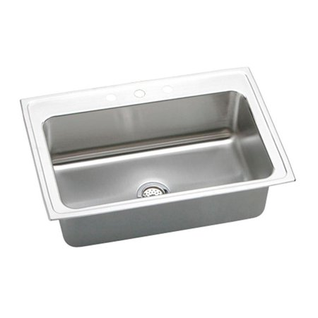 Elkay Lustertone DLRS332210 Single Basin Drop In Kitchen (Elkay Lustertone Collection)