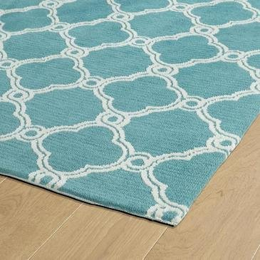 Kaleen Cozy Toes Turquoise Area Rug