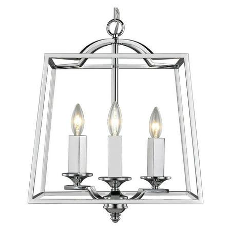 - Golden Lighting Athena 3 Light Pendant in Chrome