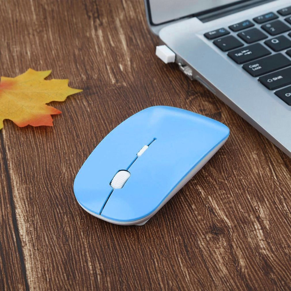 2.4GHz Wireless Optical Mouse 4 Keys Computer PC Mice USB 2.0 Ergonomically Design Ultra Slim Fashion Mouse