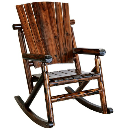 Char-Log TX93860 Rustic Single Rocker without (Log Style Glider)