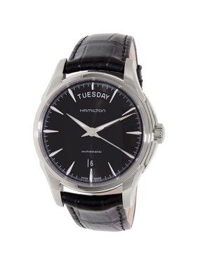 Hamilton H32505731 Men's American Classics Jazzmaster Automatic Black Dial Black Leather Strap Watch