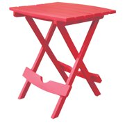 Adams QuikFold Rectangular Red Polypropylene Classic Adirondack Folding Side Table