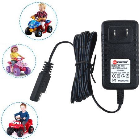 PKPOWER 6.6FT Cable B Charger 6V 1A for Quad ATV Pacific Cycle Disney Princess Avenger Good Dinosaur Dodge Avenger Charger