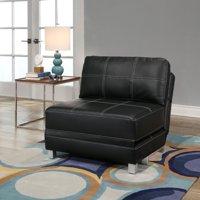 Devon & Claire Piper Convertible Futon Chair, Black