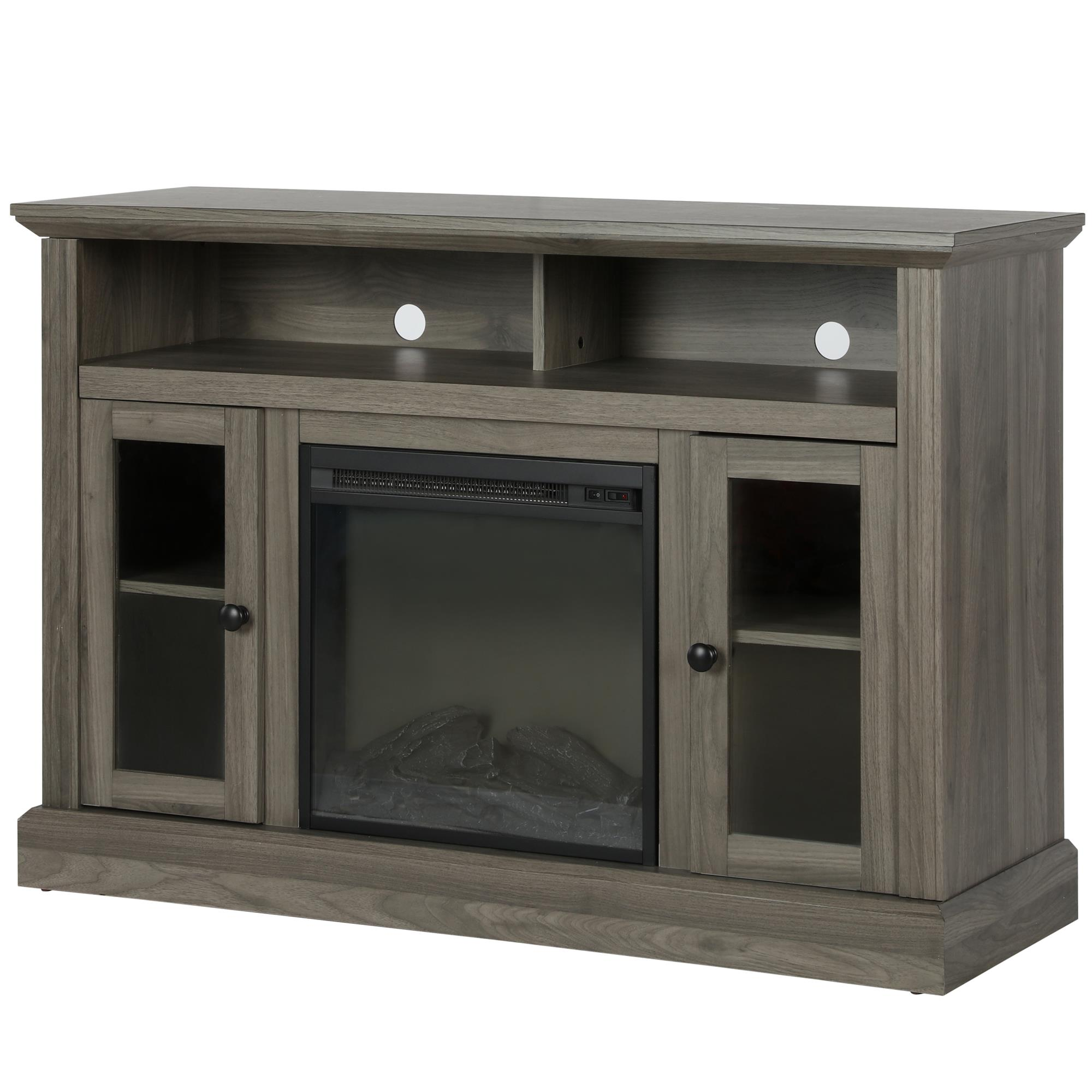 Ameriwood Home Electric Fireplace Console Tv Stand Rustic