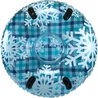 """Pipeline Sno Inflatable Snow Tube, Cool Blue Plaid, 48"""""""