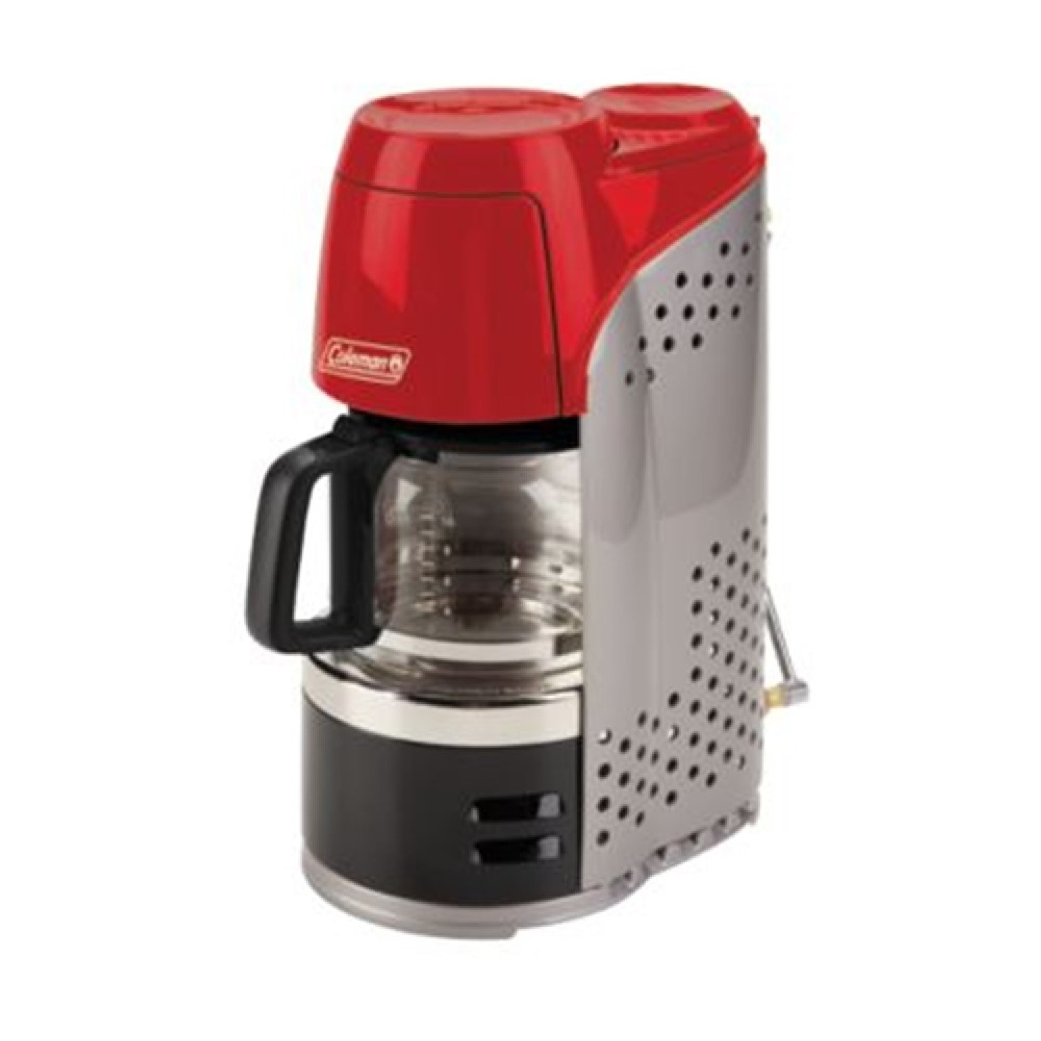 Click here to buy Coleman QuikPot Portable Propane Coffee Maker, Red by COLEMAN.