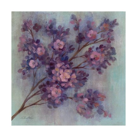 Twilight Cherry Blossoms I Print Wall Art ()