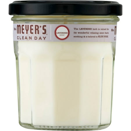 2 Pack - Mrs. Meyers Clean Day Soy Candle, Lavender Scent 7.2 oz ()