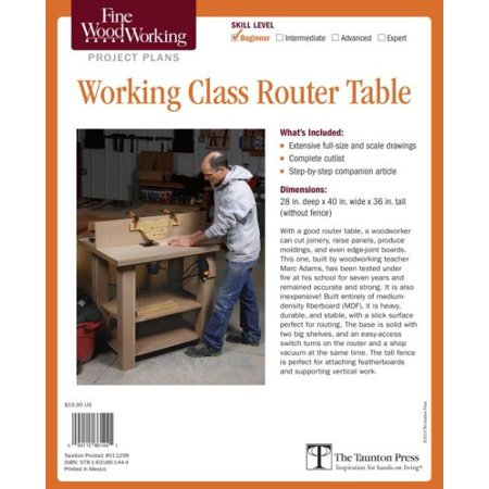 Fine woodworking working class router table plan walmart fine woodworking working class router table plan greentooth Images