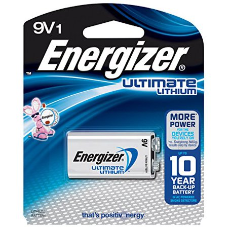 4 Pack Energizer Ultimate Lithium 9V Battery 1 Count Each
