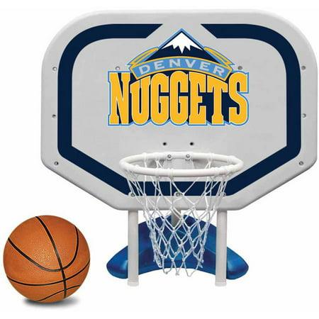 Poolmaster Denver Nuggets NBA Pro Rebounder-Style Poolside Basketball Game Denver Nuggets Brown Basketball