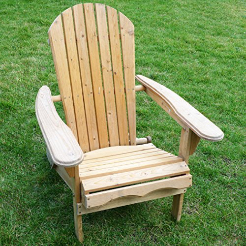 Living Accents Folding Fir Wood Adirondack Lawn Yard Porch Beach Chair by MERRY PRODUCT - LAWN & GARDEN