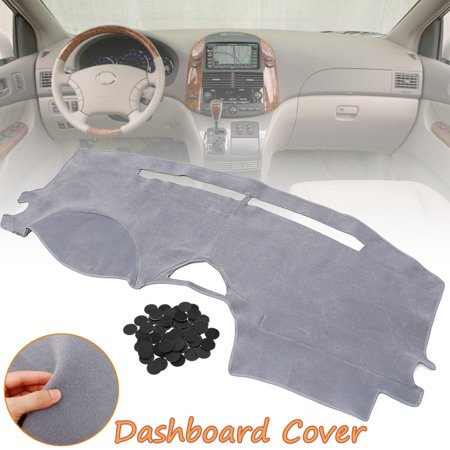 Front Dashmat Dashboard Cover Carpet Left Hand Gray For Toyota Sienna 2004 2007