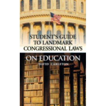 Landmark Congressional Laws On Education